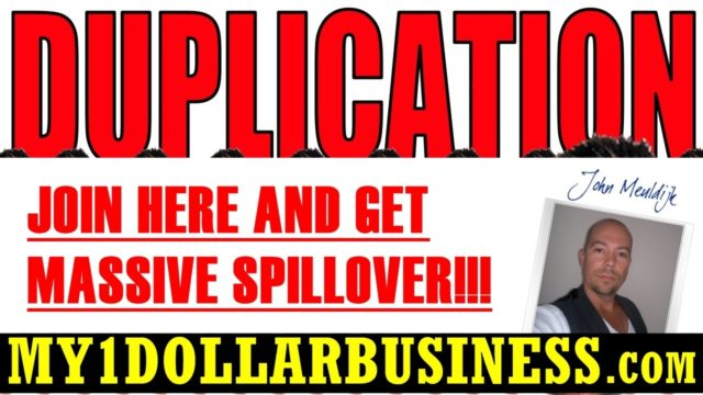 JOIN My 1 Dollar Business Through HERE and Join The BIGGEST TEAM – John Meuldijk